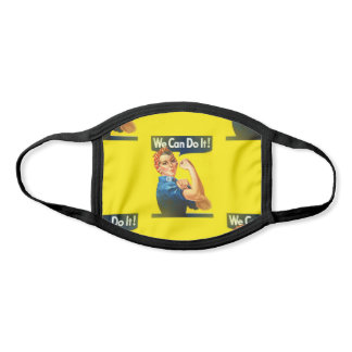 yellow rosie the riveter face mask