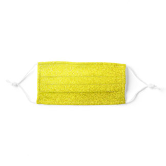 Yellow sparkle adult cloth face mask