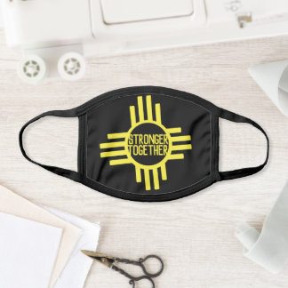 Yellow Stronger Together NM Zia Face Mask