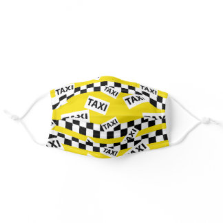 Yellow Taxi Cab Adult Cloth Face Mask