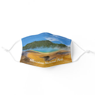 Yellowstone Grand Prismatic Spring Adult Cloth Face Mask