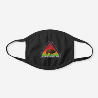 Yellowstone National Park Bison Wyoming Montana Black Cotton Face Mask
