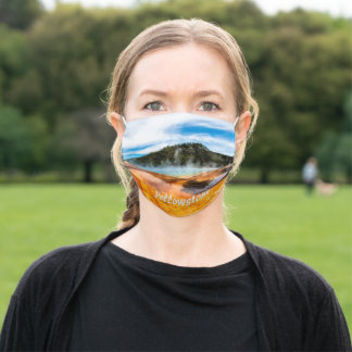 Yellowstone National Park Mountains Nature Animals Adult Cloth Face Mask