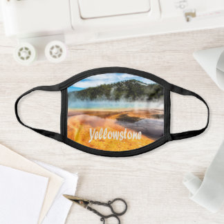 Yellowstone National Park Mountains Nature Animals Face Mask