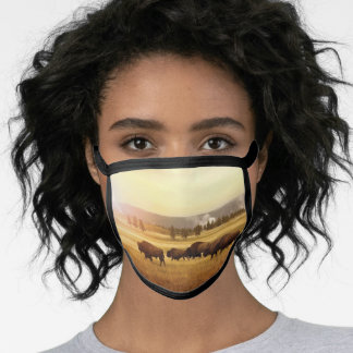 Yellowstone National Park Wyoming Montana Idaho Face Mask