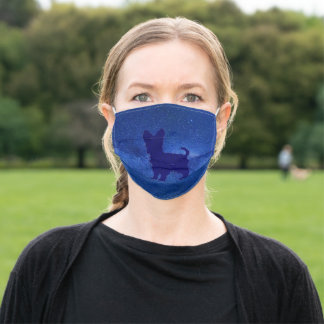 Yorkie face mask for virus peotection.
