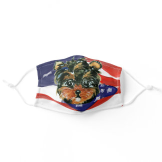 YORKIE POO ADULT CLOTH FACE MASK