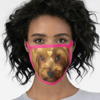 Yorkshire Terrier Eyes of Love Face Mask