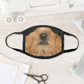 Yorkshire terrier muzzle printed face mask. face mask