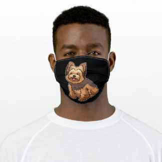Yorkshire Terrier Yorkie Dog Gift Adult Cloth Face Mask