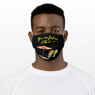 You Can Find Me At The Beach Adult Cloth Face Mask