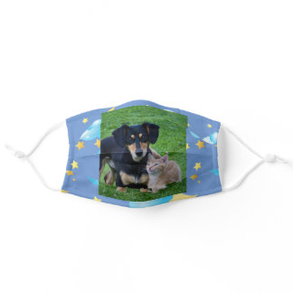YOUR Dog PHOTO Kitten Custom Template Comfortable Adult Cloth Face Mask