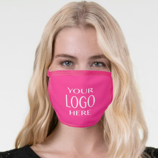 Your Logo | Simple Logo Replacement/Bright Pink Face Mask