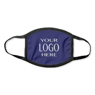 Your Logo | Simple Logo Replacement/Navy Blue Face Mask