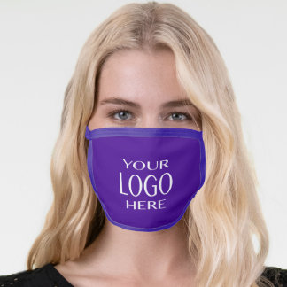 Your Logo | Simple Logo Replacement/Purple Face Mask
