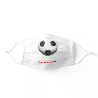 Your Name Customizable Soccer Football Artwork Adult Cloth Face Mask