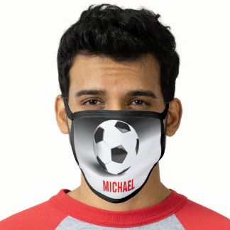 Your Name Customizable Soccer Football Pop Art Face Mask