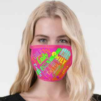 Your Name | Fun Colorful 80's 90's Retro Inspired Face Mask
