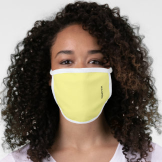 Your Name or Monogram & Solid Yellow Face Mask