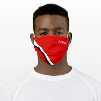 (Your Name / Your Colors)  Simple 2 Striped Adult Cloth Face Mask