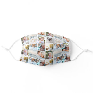 Your Photos Custom Collage Pattern Adult Cloth Face Mask