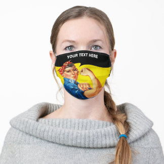 Your text here adult cloth face mask
