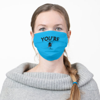 you're on mute distressed adult cloth face mask