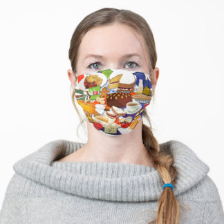 Yummy British Food Adult Cloth Face Mask