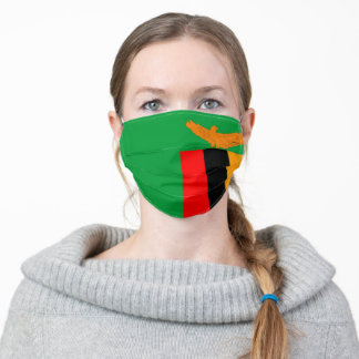 Zambia flag country flag symbol nation ethnic adult cloth face mask