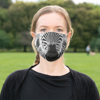 Zebra Snout Adult Cloth Face Mask