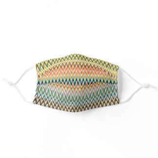 Zigzag Multicolored Pattern Adult Cloth Face Mask