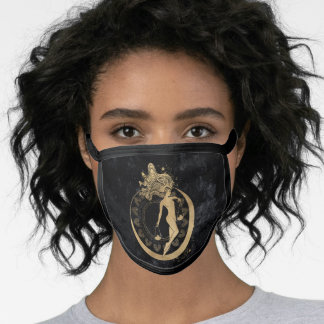 Zodiac Libra | Cosmic Gold and Black Astrology Face Mask