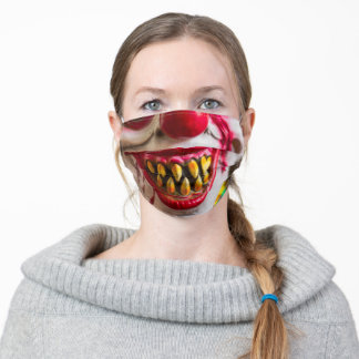Zombie Clown Adult Cloth Face Mask