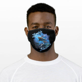 Zombie Shark | Great White Undead Adult Cloth Face Mask