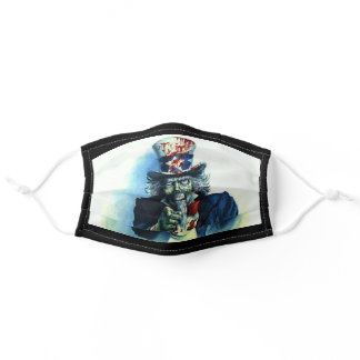 Zuncle Zam - Zombie Uncle Sam Adult Cloth Face Mask